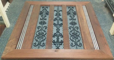 cedar & iron decorative accents